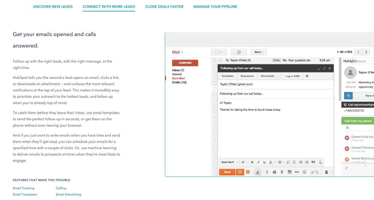 เครื่องมือการขายออนไลน์ Sales ของ HubSpot